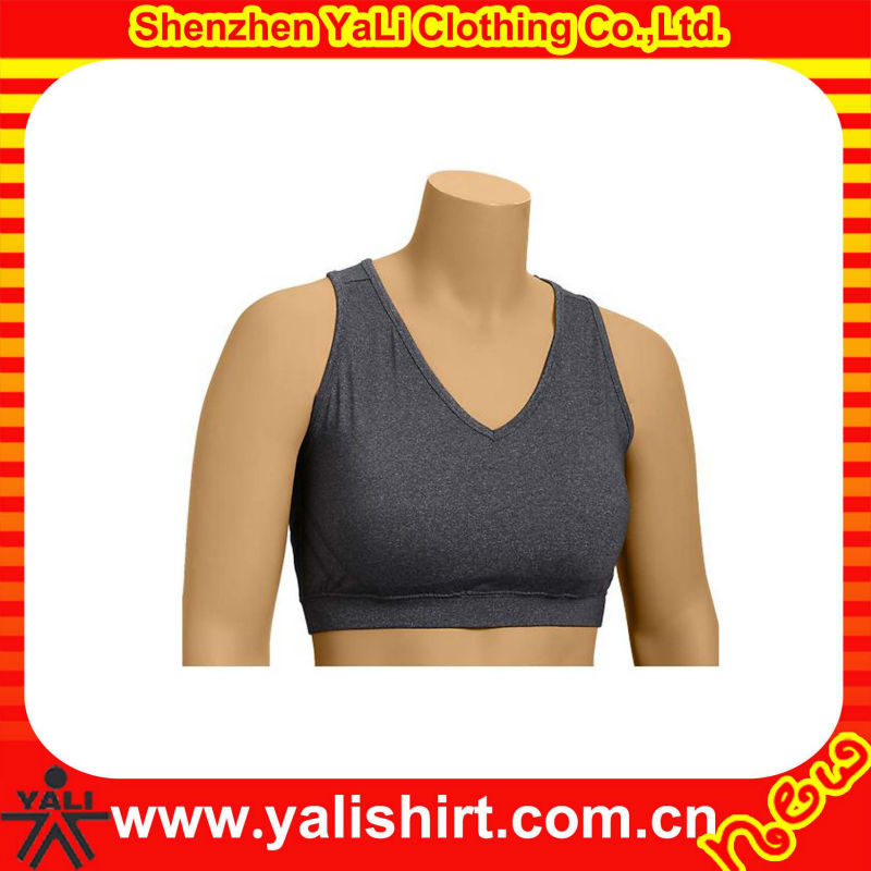 Custom made comfortable dry fit cheap v-neck mix size blank tight plain hot sexy xxxx sports bra