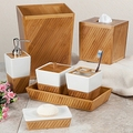 Classic Bamboo Spa Bath Ensemble Accessory Gift Set