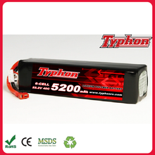 5200mAh 40C 22.2V 6S Grade A LiPo Battery Packs For RC Hobby 5C Charge Rate