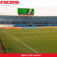 CE RoHS ETL EMC Football Soccer Sports P10 P12 P16 Wide View Curved Perimeter Screen Advertising Stadium LED Display