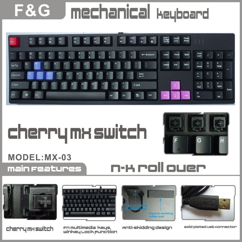 cherry switch mechanical keyboard