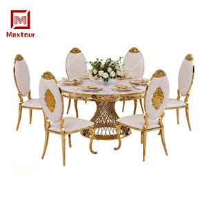 Luxury royal dining roon table and chair sets for hotel hall