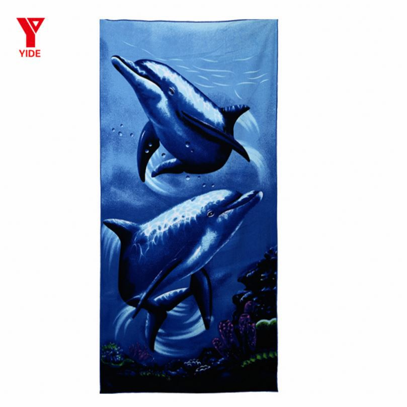 100% cotton prinited beach towel with good quality