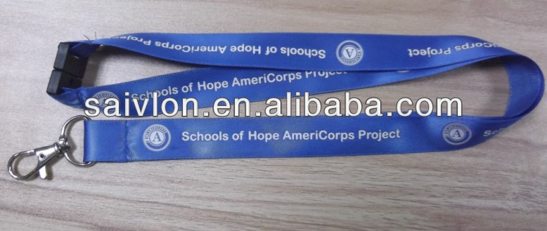 Promotional Custom Printed Logo Satin Lanyard