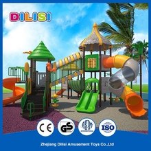 Large Plastic Tunnel Children Outdoor Long Curved Slide Playground Slides