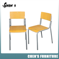 China Bazhou Metal Legs School Stack Chairs