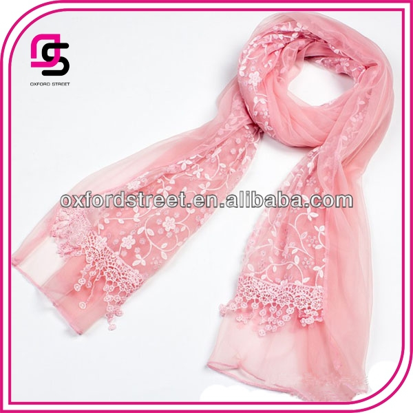 Lace fashion silk bohemian Scarves
