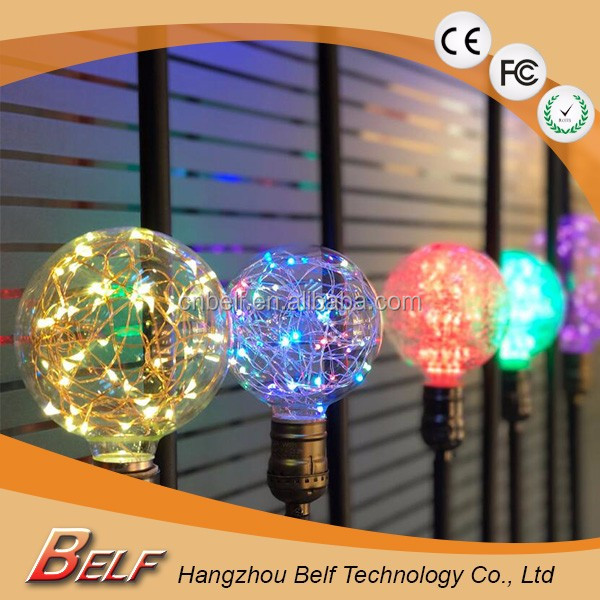 Vintage Design Fairy LED <strong>Bulb</strong> G95 E27 85V-265V RGB String light Filament lamp For Decor Christmas Holiday