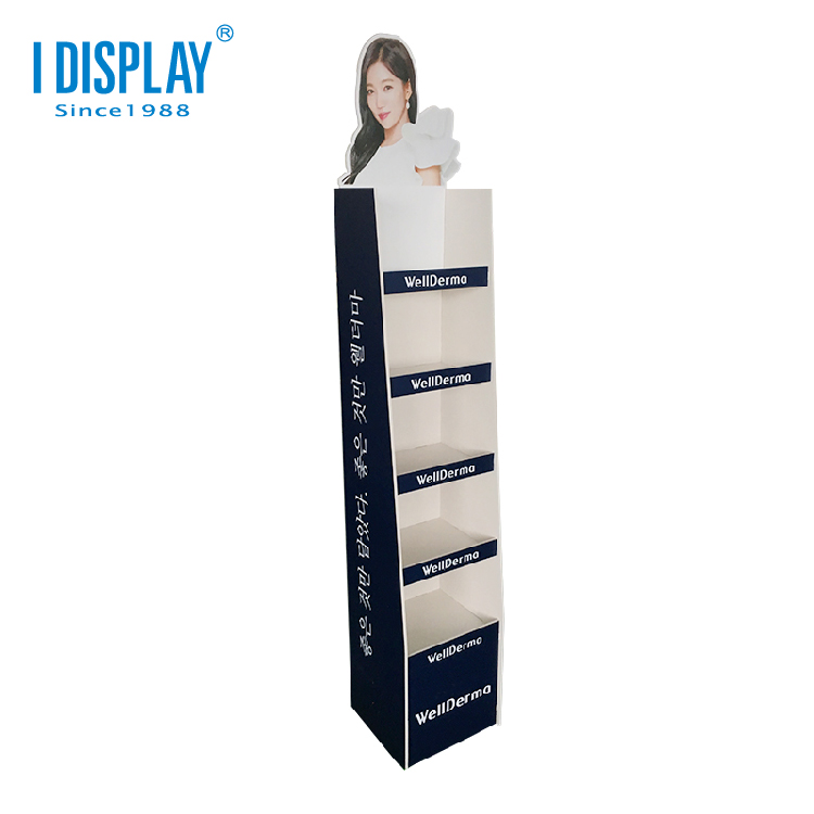 Low MOQ Custom Cardboard <strong>Display</strong> Shelf, Corrugated Paper Shelf Floor <strong>Display</strong>