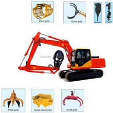 Mini excavator hydraulic rotating grapple tractor for sale