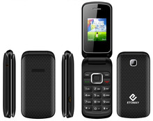 "2G feature phone 1.77"" flip top mobile phones"