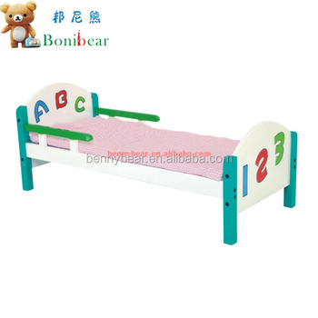Hot Sale! Kindergarten Furniture Wooden Children Bed,Nursery Children Bed