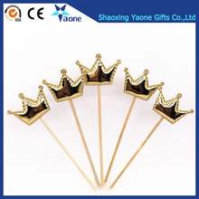 Custom Glitter Gold Crown Pattern Wedding Cake Toppers Decoration For kids Birthday Party Favors Baby Shower Supplies