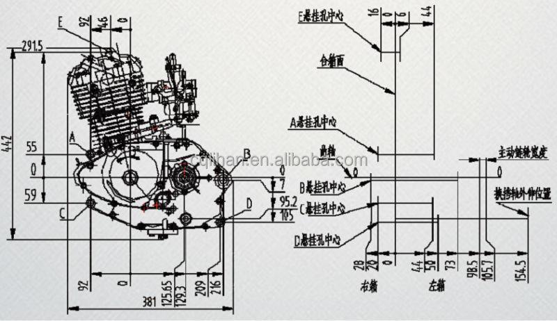 lifan 125cc electric start engine, genuine 125cc lifan ... suzuki wiring diagram 125 h electric diagram 125 lifan engines #12