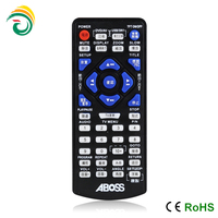 hot sale TV remote control with 40pcs silicone buttons 2*AAA battery