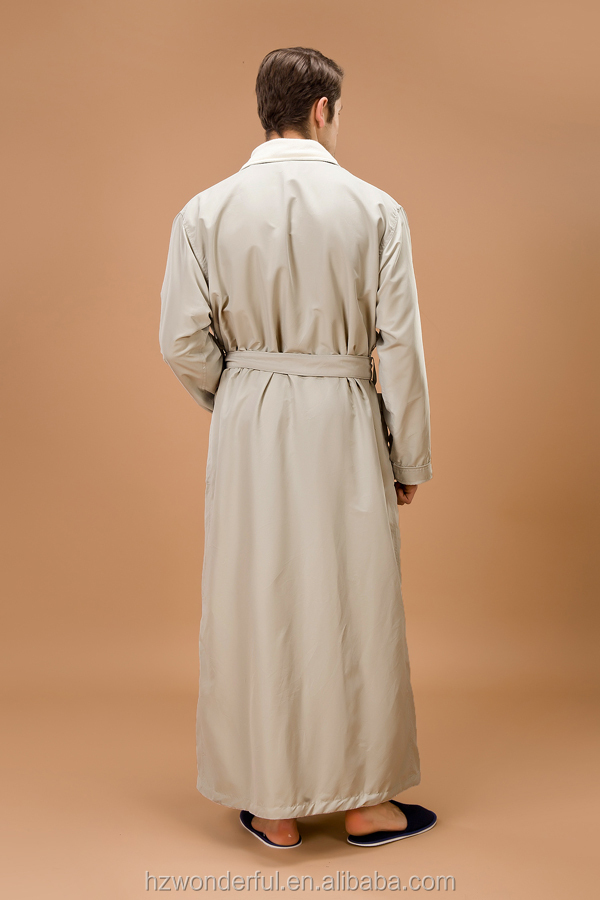 the latest gown designs double layer microfiber with terry in lining smoke mens microfiber bathrobe