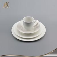 Dinner set white ceramic porcelain of kitchen ware for restaurant and home