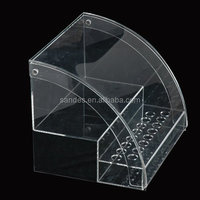 Cheap Pure Countertop Store Plastic Pen Display Clear Perspex Pencil Holder Stand Stationery Display Cabinet