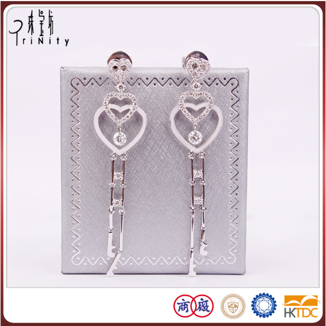 2-years repair promise diamond chandelier earrings