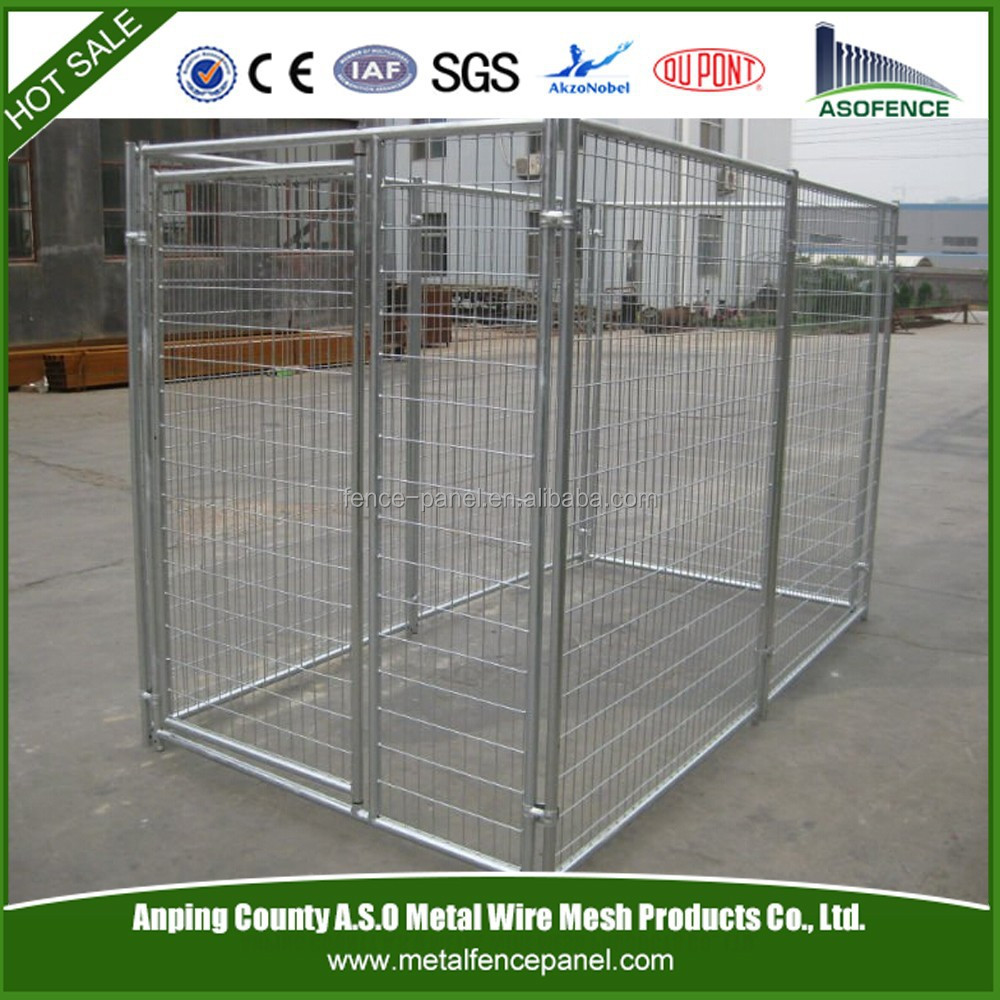 Galvanized steel dog kennel Iron Fence Dog Kennel chain link dog kennel panels