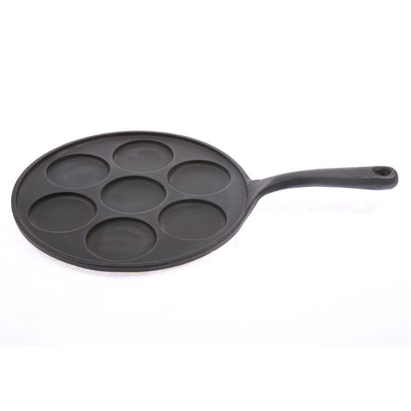 7 Holes Cast Iron Non-stick multiply shapes mould pancake pan