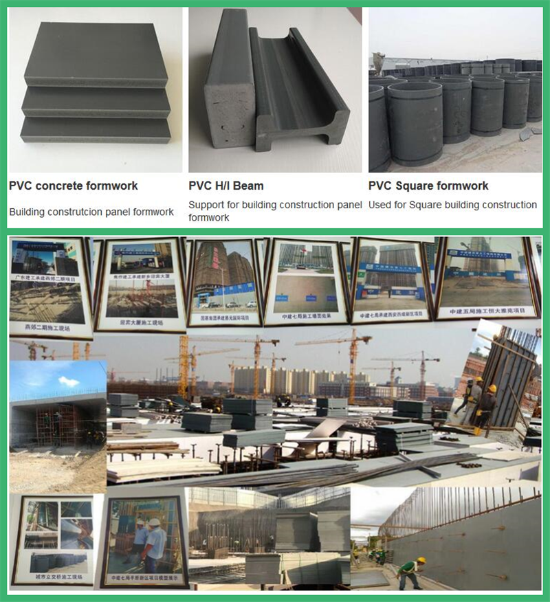 Manufacture of Customized reusable 30 Times pvc formwork better than used peri formwork