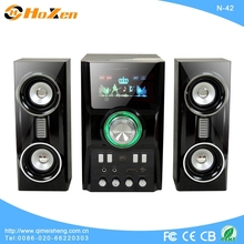2013 best selling great sound multimedia speaker 2.1 home theater with usb fm usb