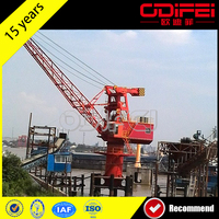 5T Floating Crane Used Crane Barge
