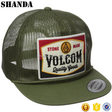 Flat Bill Mesh Snap Back Hat Custom Patch Full Mesh Trucker Hat Wholesale