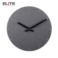 factory audit home quartz laser dial slate plate electronic natural stone decorative wall clocks