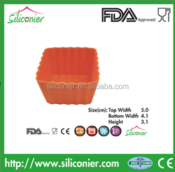 High Performance Square Silicone Cupcake Bakeware
