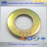 yellow zinc plated high pressure F436 Flat Washer