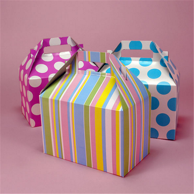 High quality custom logo Colors & Patterns Gable Gift Boxes