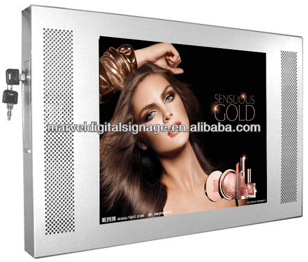 12 inch lcd screen advertising,touch screen photo kiosk,bus ad display