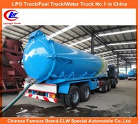 2 Axle Sewage Sucking truck 25 ton Sewage Suction Truck Italian Vacuum Pump