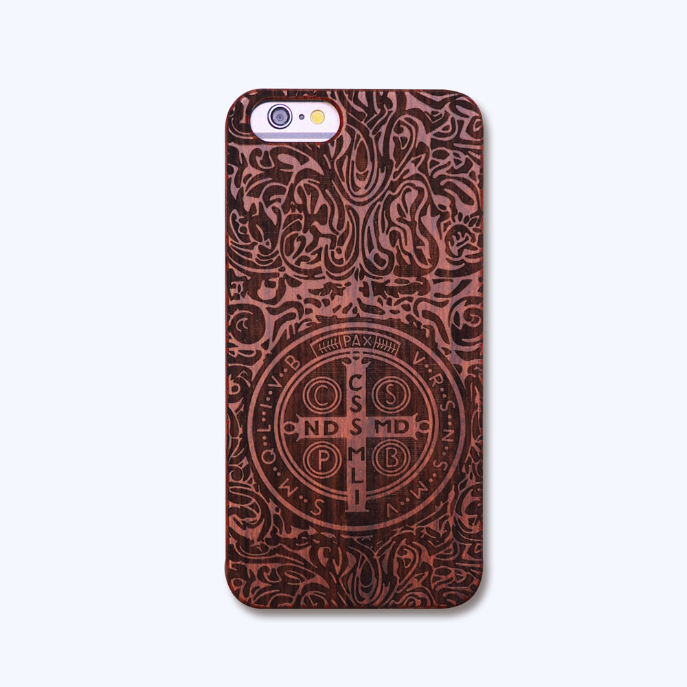 Konstantin Wooden Pattern PC+Wood Phone Case Cover For iPhone 5 5s 5se 6 6s 6plus