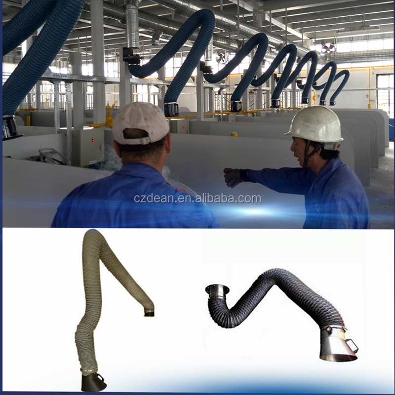 Universal smoke suction arm/fume extraction hood arm/flexible fume extractor arm 2m length