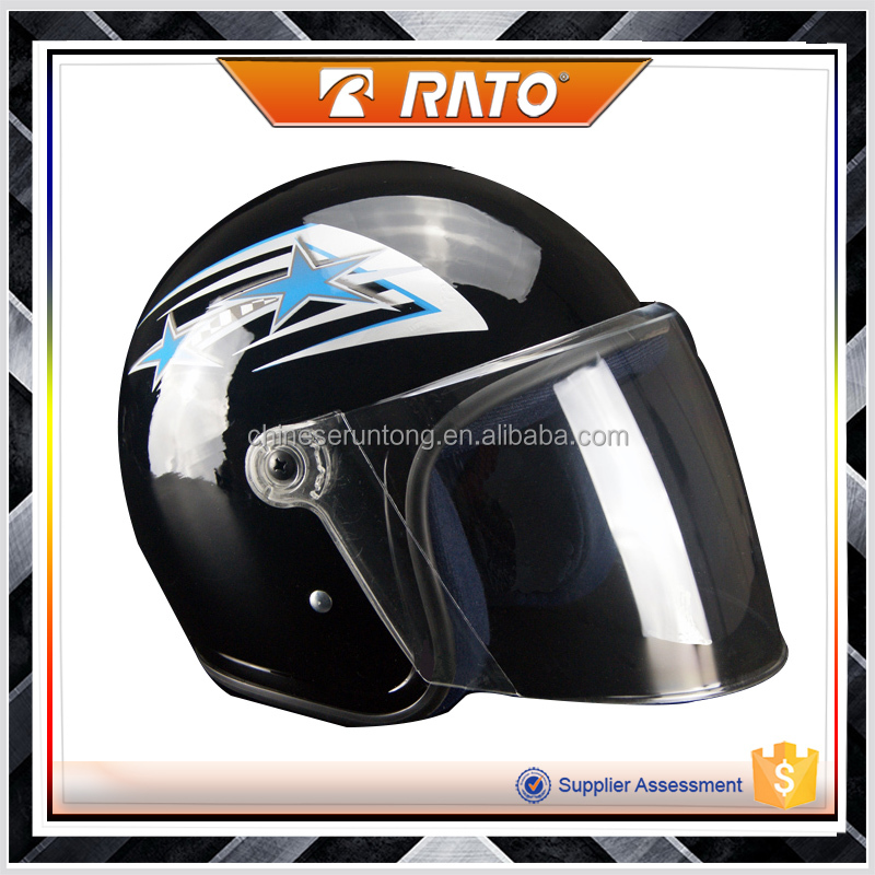 Good quanlity classic black cool half face motorcycle helmet made in China