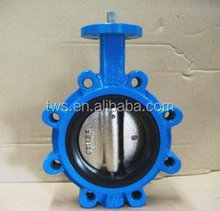 China supplier 4 inch epdm seat semi lug butterfly valve