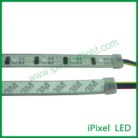 CE RoHS Addressable digital rgb black or white pcb ws2801 led strip