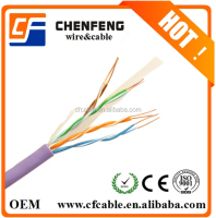 Factory price amp UTP CAT6 network cable 24AWG