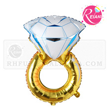Reians customized 84*54cm huge engagement ring balloon happy wedding foil decoration baloon party Supplies (Accept OEM,ODM)