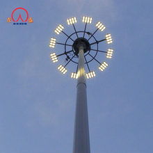High quality communication galvanized 30 meter high pole light