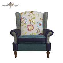 Single seater fabric patchwork upholstered sofa chair/luxury throne chair jennifer taylor floral velvet armchair