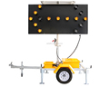 OPTRAFFIC Remote Control Sign Directional Flashing Arrow Board Trailer Solar Led Traffic Light