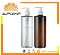 Yuyao plastic water shampoo bottle 500mL SF-06-2