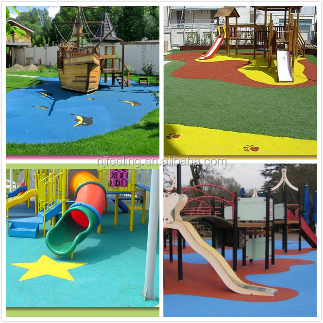 Colorful Outdoor Rubber Flooring Playground Manufacturers