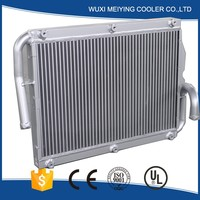 china customized made aluminum plate fin cooler for air compressor