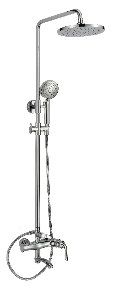 High level modern wall mounted brass fancy shower faucet for bathroom