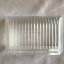 Ready to ship <strong>plastic</strong> injection molded road lamp enclosure clear ABS
